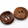 Woodden buttons, coffee brown, 30 mm, 2 holes